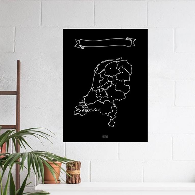 Krijtkaart Nederland